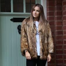 asos vintage style faux fur coat