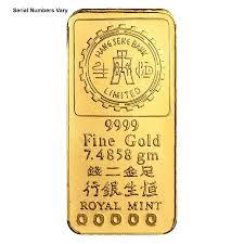 7 4858 Gram Hang Seng Bank Gold Bar Bullion Exchanges