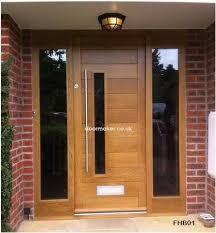 front door companycontemporary oak door with sandblast sidelights   Pinteres