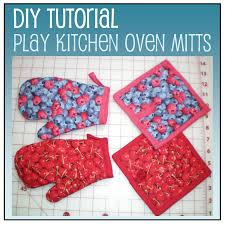Oven Mitt Pattern Unique Tutorial Play Kitchen Oven Mitts And Pot Holders Houston DIY