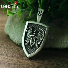 protection pendent men necklace archangel protect me saint shield pendant jewelry emf uk