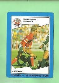 1989 STIMOROL RUGBY LEAGUE CARD #121 DEAN HANSON, ILLAWARRA STEELERS   eBay
