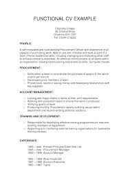Samples Of Functional Resumes Functional Resume Example Combination