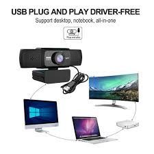 HXSJ S5 <b>HD 1080P Computer Camera</b> Builtin 8m Soundabsorbing ...