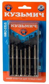 Купить <b>Набор</b> отверток <b>Кузьмич</b> НИК2-035/6 по выгодной цене ...