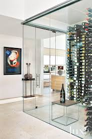 So maybe this modern glass wine cellar is going a bit far.