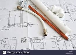 Blueprint Plans Of A Home Building And Construction Project