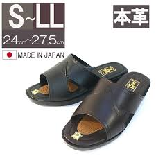 italico japan made leather office business sandals leather p toe men s sandals slippers leather sandals two color dark brown black rakuten global