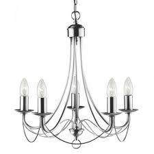 maypole satin silver 5 light multi arm fitting birdcage design