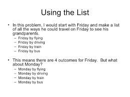Make A List Com Making Organized Lists For Probability