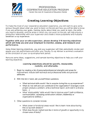 professional skills to develop list creating learning objectives tip sheet
