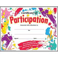 30 Childrens Certificate Of Participation Splash Design Pack Large