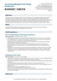 Bookkeeping Resume Bookkeeper Resume Samples Qwikresume