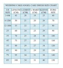 Size Chart Cupcake Couture Dress