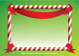free christmas candy frame vector by
