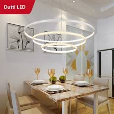 dutti d0046 circle led chandelier for living room restaurant bedroom study room creative art simple acrylic