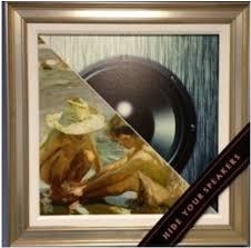 speakers artwork. bluetooth speakers hidden in a frame artwork
