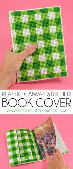 protect your favorite books with an awesome plastic canvas sched book cover it s a great