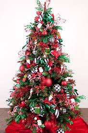 A Charming Red And Green Christmas Tree: Source