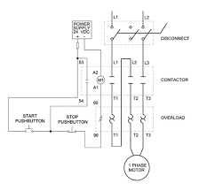 dol starter wiring diagram for single phase motor dol overload single phase motor wiring diagrams elec eng world on dol starter wiring diagram for single