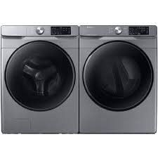 Shop Samsung Platinum Front Load Washer Electric Dryer Set With Steam And Smart Care At Lowes Com
