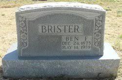 Benjamin Franklin Brister (1873-1959) - Find A Grave Memorial