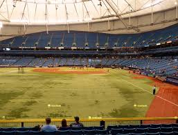 Rays Seating Chart With Rows Tropicana Field Section 141 Seat Views Seatgeek