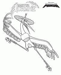 Kung Fu Panda Crane Coloring Page Crane Get Coloring Pages
