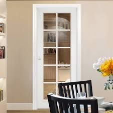 interior clear glass door. White Moulded 10 Pane Door With Clear Safety Glass Interior H