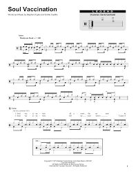 Soul Vaccination Drum Chart Soul Vaccination By Tower Of Power Drums Transcription Digital Sheet Music