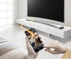 lg tv sound bar. lg music flow hs8. has launched a curved soundbar lg tv sound bar
