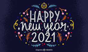 Happy New Year 2021 Lettering Design - Vector Download