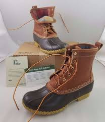 men s flannel lined tumbled leather ll bean boots limited edition small batch 8 llbean snowwinter