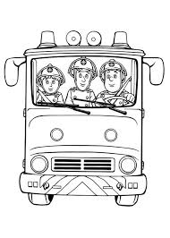 Small Picture Fireman Sam Fireman Sam and Friends on Fire Trucks Coloring