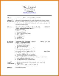 Resume Examples Desktop Medical Assistant Resumes Samples New Hope