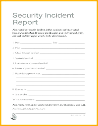Daily Incident Report Template Free Accident Report Form Template