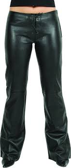 womens fashion leather pants in genuine lambskin black