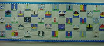 Bulletin Board Ideas & Make a theme patchwork paper quilt. Cut 1-2 inch squares of paper in  various colors. Have the class determine a pattern for the squares and glue  them to ... Adamdwight.com