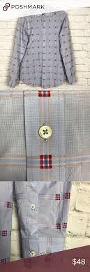 Bugatchi Uomo Shaped Fit Windowpane Dress Shirt Great