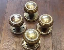 brass door knobs. vintage brass door knobs b