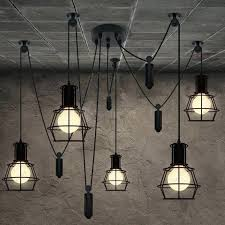 pulley chandelier restoration