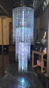 led large huge bespoke custom crystal chandelier by first class lighting ltd