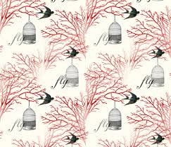 vintage birdcage wallpaper. Plain Birdcage Vintage Birdcage And Swallows Red Branches Design And Wallpaper