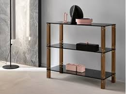 Glass shelves bookcase Tesso Open Modular Wood And Glass Shelving Unit Euclide Modular Shelving Unit Archiproducts Glass Bookcases Archiproducts