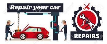 auto mechanic logo vector. Wonderful Logo Horizontal Banner Template On Car Repairs Logo Hand Holding A Wrench Auto  Mechanic In Mechanic Logo Vector I