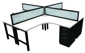 4 person desk 4 person unit with frosted glass 4 person computer desk