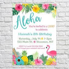 Tropical Party Invitations Hawaiian Party Invites Barca Fontanacountryinn Com