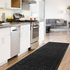 Rubber Floor Tiles Kitchen Kitchen Casual Stools Closed Nice Counter Plus Double Sink Under