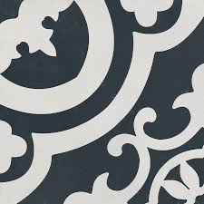 Black And White Patterned Floor Tiles Stunning Shop DELLA TORRE Cementina Black And White Ceramic Floor And Wall