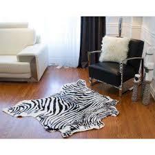 faux zebra black white